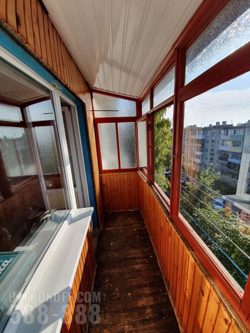 фото ремонта балкона в железнодорожном леди